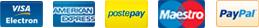 VISA | AmEx | PostePay | Maestro